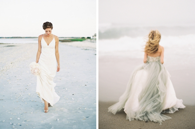 20 dreamy beach wedding dresses southbound bride for Nicole miller beach wedding dress