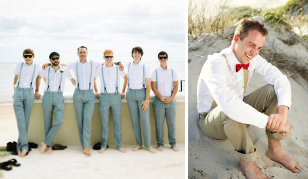 20 beach wedding looks for grooms groomsmen southbound for Wedding dress shirts for groom