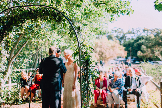 Wreath Arch at Ceremony