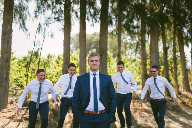 Classic Navy and White Wedding Suits