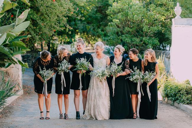 Blakck Bridesmaids Dresses
