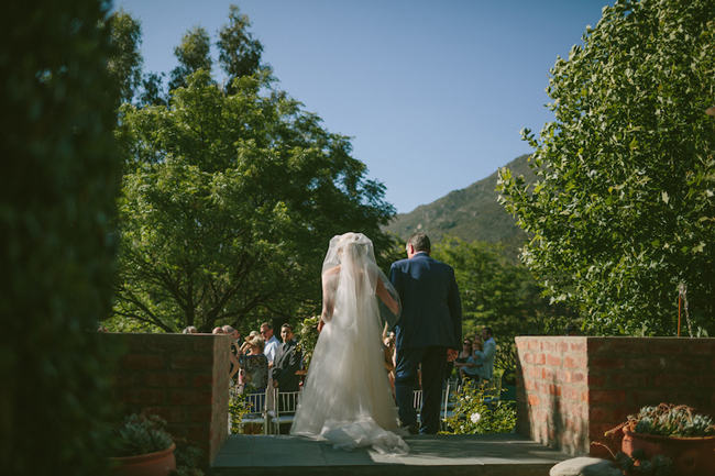 Father and Daughter Walking Down the Aisle at Olive Rock