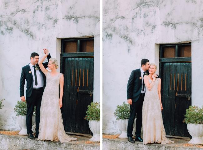 Elegant Bride and Groom at Dairy Shed
