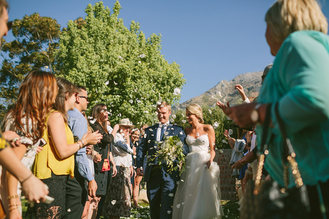 White Rose Petal Confetti at Olive Rock