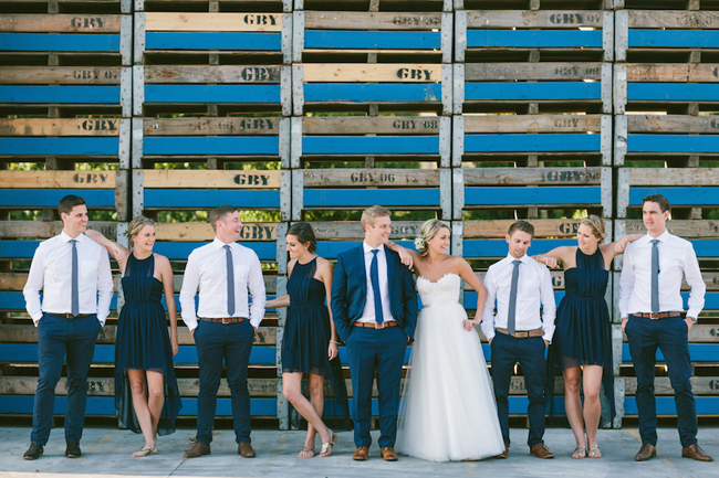 Classic Navy and White Wedding Party