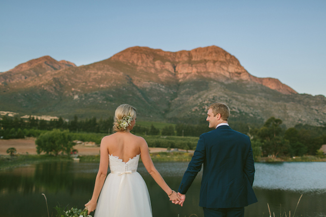 Romantic Golden Hour Wedding Portrait by Kristi Agier Photography