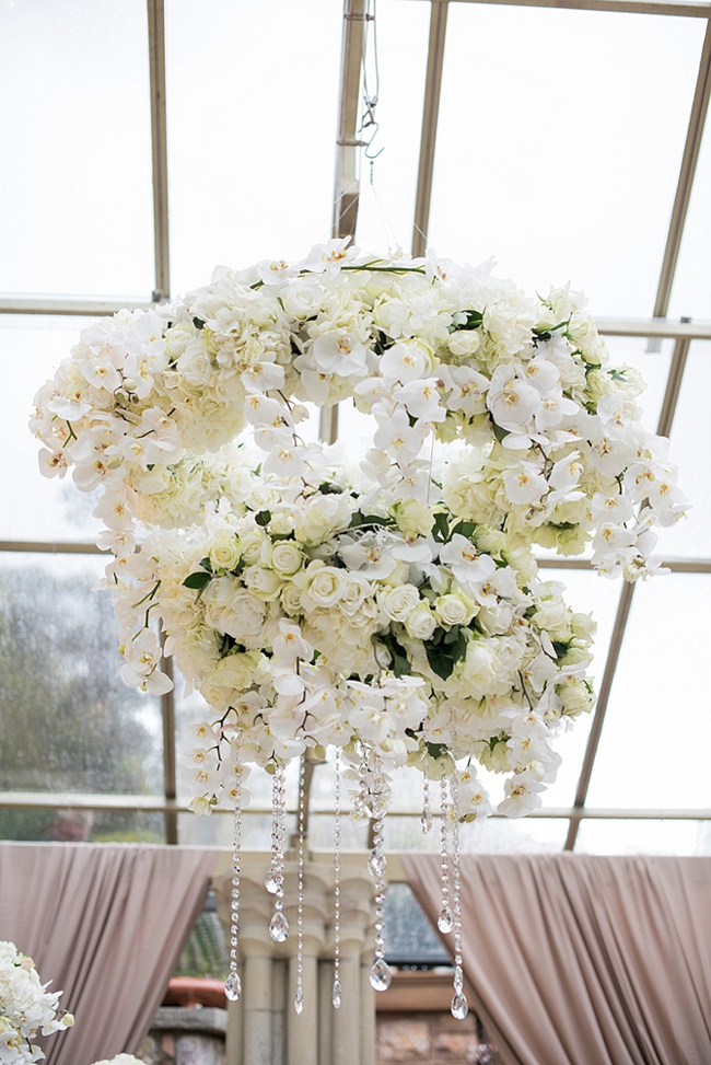 White Orchid and Roses Floral Arrangement at Shepstone Gardens