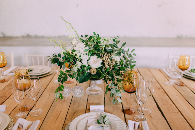 Gold and Green Table Decor by Michelle Du Toit Photography