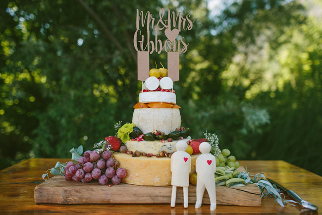 Cheese Wedding Cake at Olive Rock