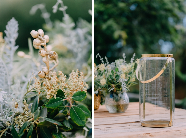 Gold and Green Wedding Details