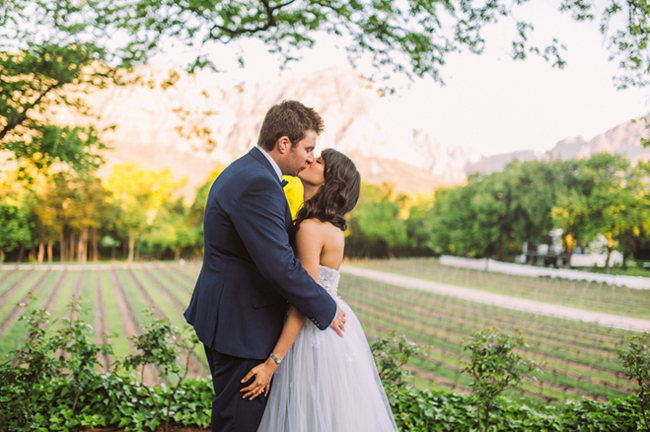 Romantic Vineyard Wedding by Moira West