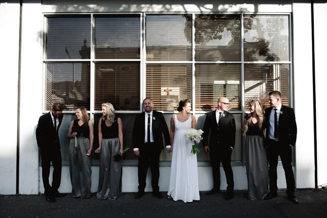 Modern Black and White Wedding