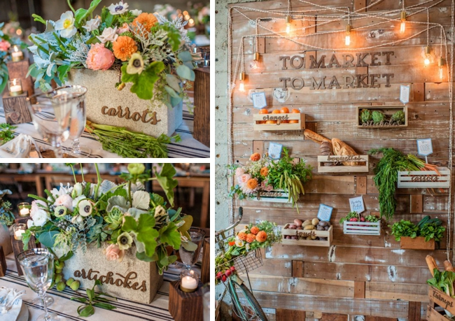 Farmers Market Wedding Ideas Escort Display