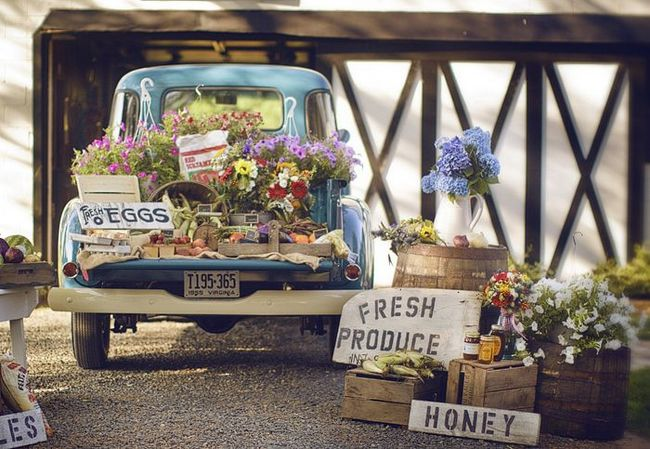 Farmers Market Installation Wedding Ideas