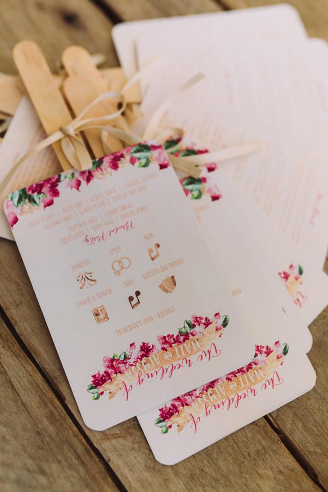 Floral Wedding Program