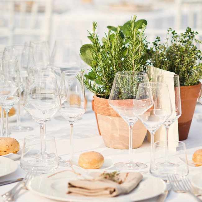 Farmers Market Wedding Ideas Herb Centerpiece