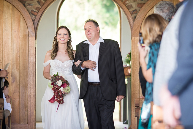 Father and Bride Walking Down the Aisle by CC Rossler Photography