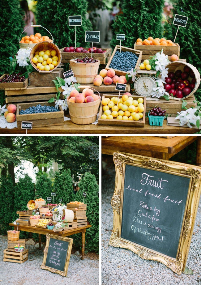 Farmers Market Wedding Ideas Fruit Wedding Favors