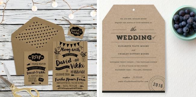 Rustic Wedding Invitations Nz: 15 Rustic Farmer's Market Style Wedding Invitations