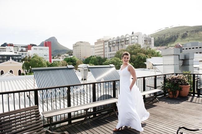 Modern Bride on City Rooftop by Jules Morgan Photography