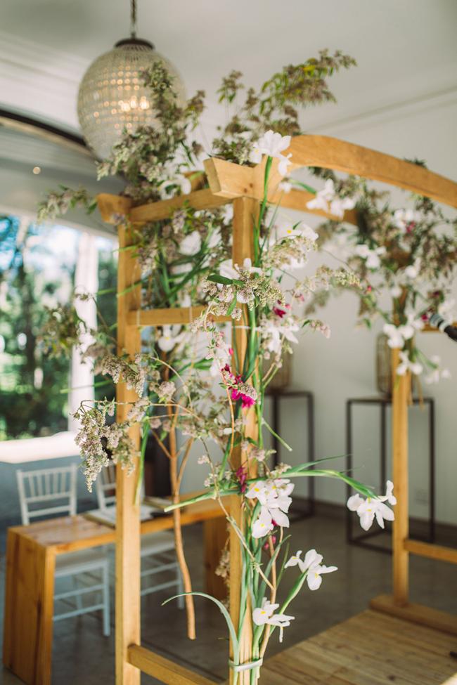 Contemporary Floral Wedding Arch