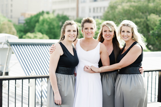 Modern Black and Grey Bridesmaids Dresses