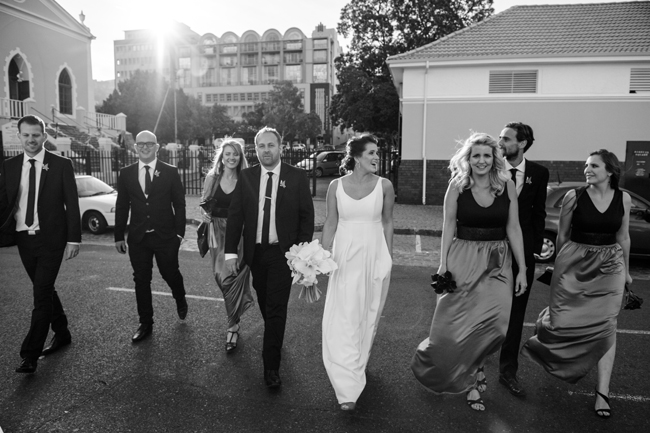 Wedding Party in the City by Jules Morgan Photography