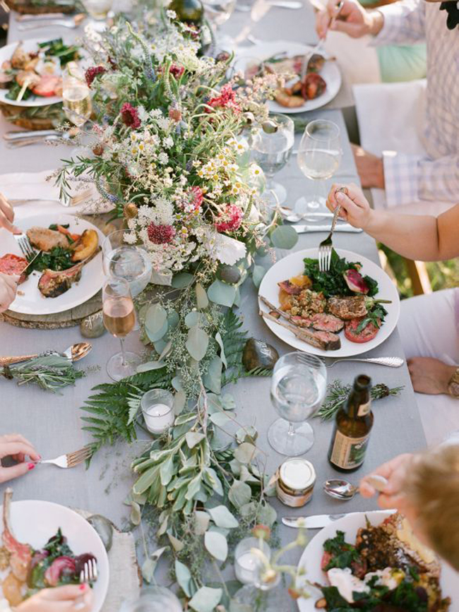 Farmers Market Wedding Ideas Family-style Dining