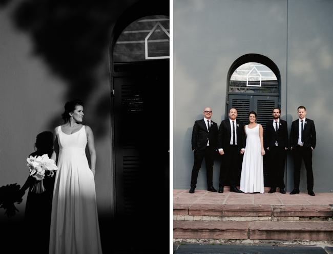 Modern Inner City Black and White Wedding