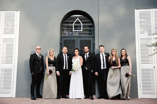 Black and White Inner City Wedding