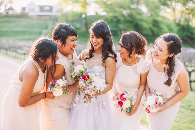 Bouquets with Pops of Pink