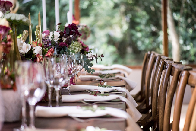 Gold and Marsala Decor with Wood