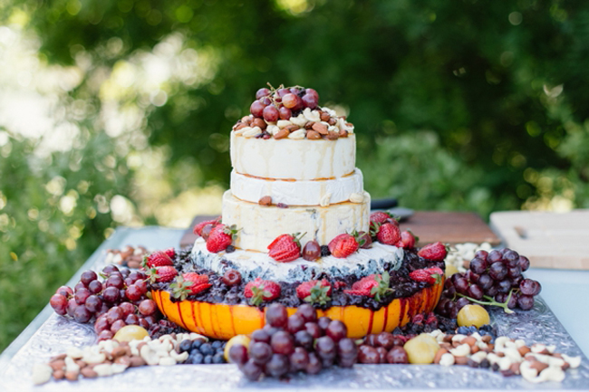 Farmers Market Wedding Ideas Cheese Wheel Wedding Cake