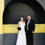 Graphic Inner City Wedding at HQ Restaurant by Jules Morgan