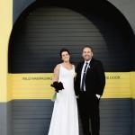 Graphic Inner City Wedding at HQ Restaurant by Jules Morgan