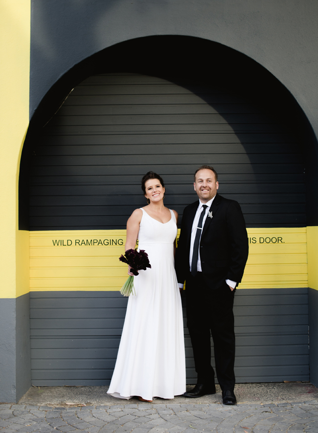 Bride and Groom at Modern City Architecture