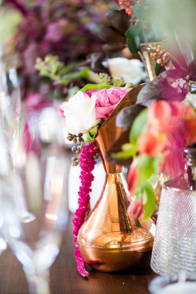 Pink and Gold Floral Arrangements