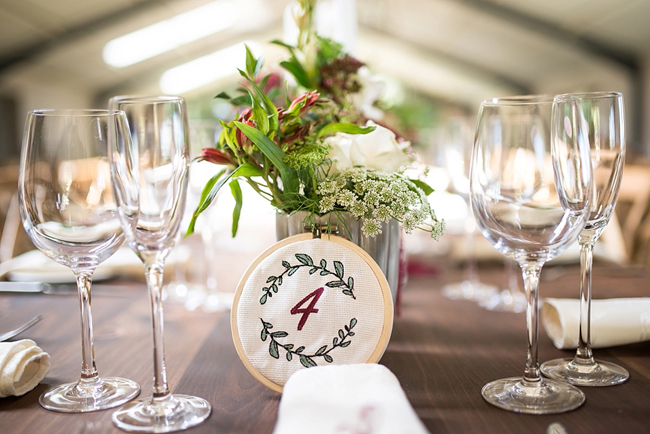 Embroided Table Number