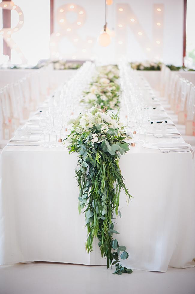 Timeless Cascading Greenery Wedding Decor