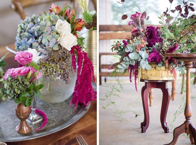 Romantic Berry-tone Floral Arrangements by CC Rossler Photography