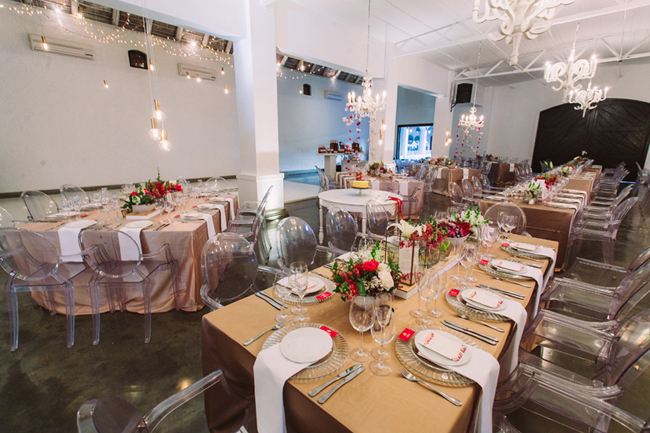 Modern Wedding Decor with Ghost Chairs