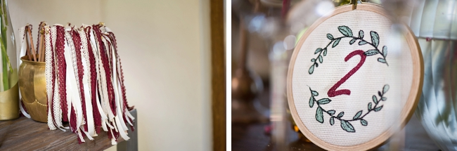 Marsala and Cream Wedding Details by CC Rossler Photography