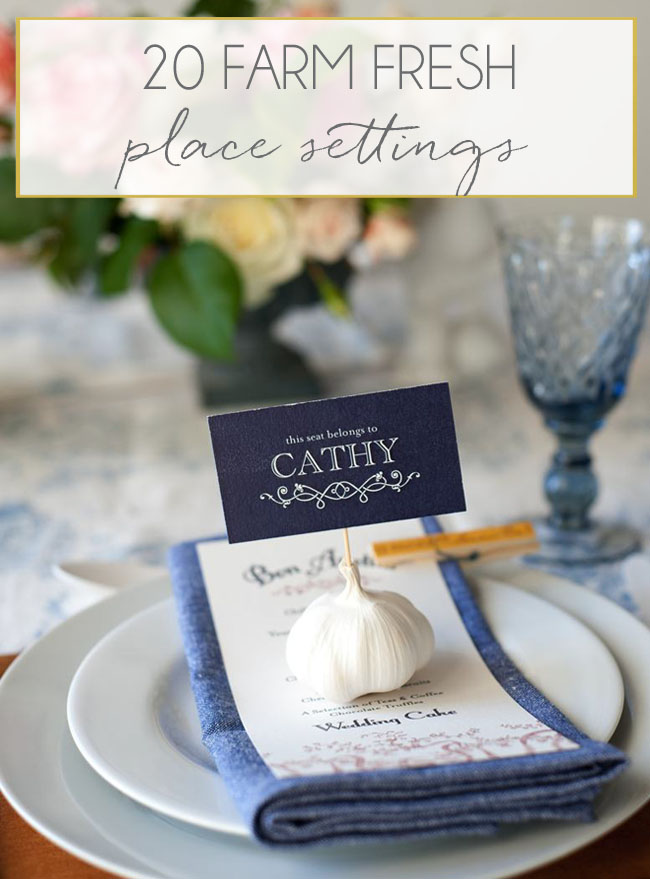 001-Fruit and Vegetable Wedding Place Settings - SouthBound Bride