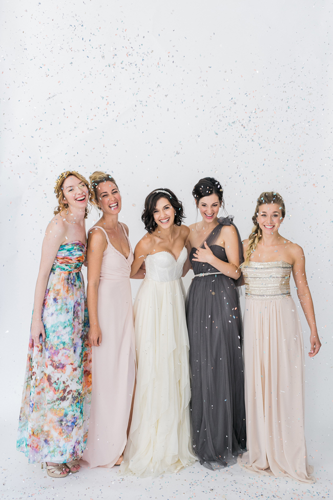 Mismatched bridesmaids | SouthBound Bride | Credit: Alexis June Weddings