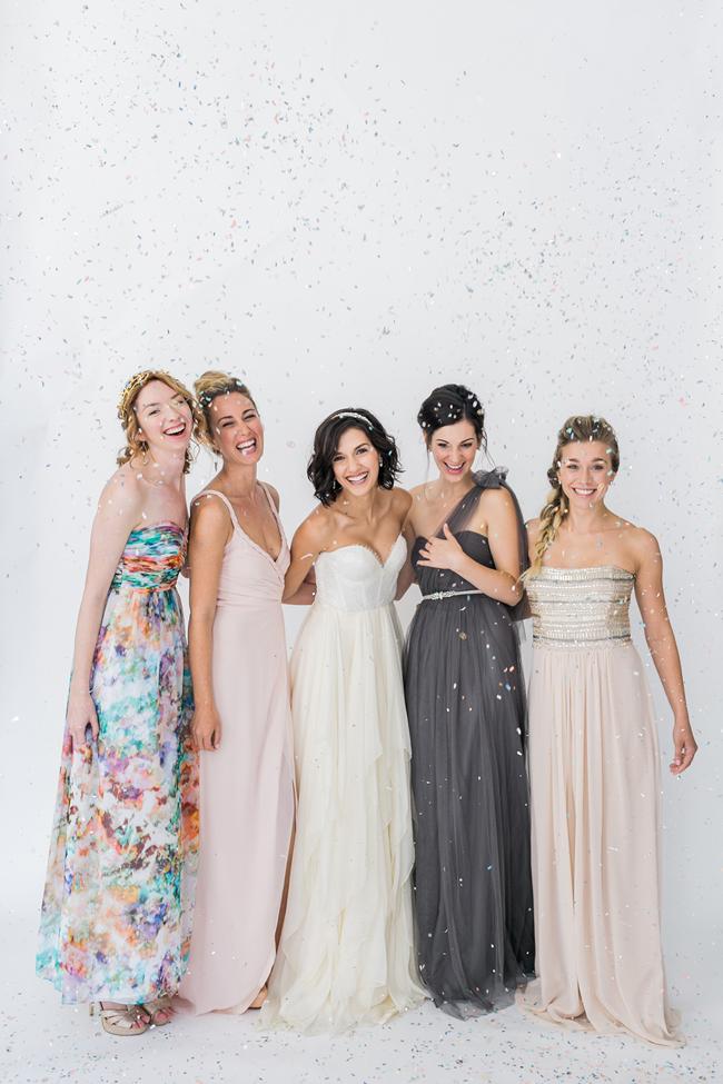 Mismatched bridesmaids | SouthBound Bride | Credit: Alexis June Weddings