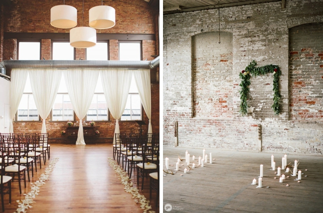How To Style An Industrial Chic Wedding Ceremony