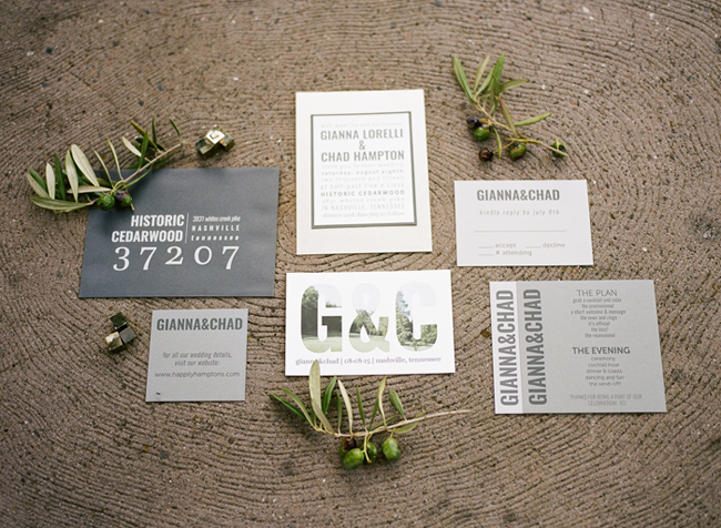 modern grey stationery suite
