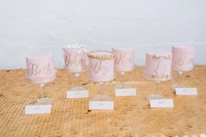 Pink mini wedding cakes | SouthBound Bride | Credit: Alexis June Weddings