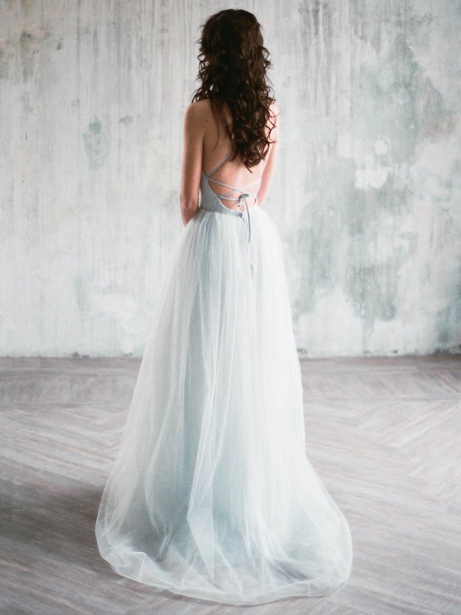 Ice Blue Wedding Dress