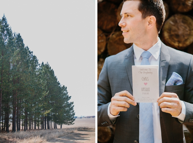 Groom with Wedding Invitation   Credit: Carolien & Ben